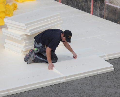 Утепление бетонной крыши гаража