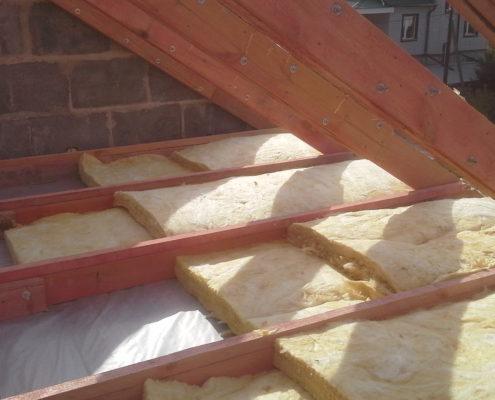Утепление скатов крыши бани
