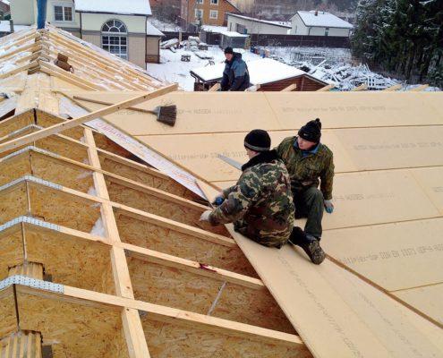 Утепление крыши бани поверх стропил