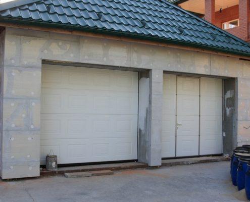 Утепление фасада гаража
