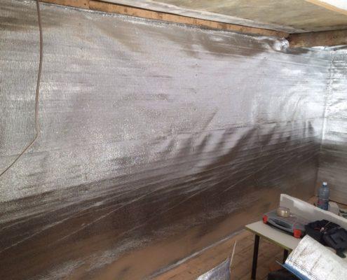 Утепление гаража отражающей теплоизоляцией
