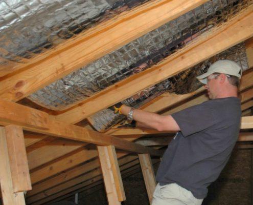 Утепление деревянной крыши гаража