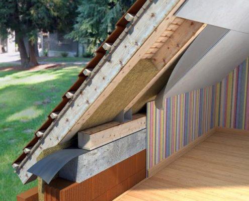 Утепление крыши коттеджа