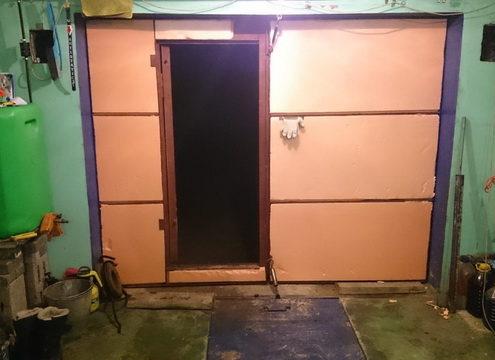 Утепление гаражных ворот пеноплексом