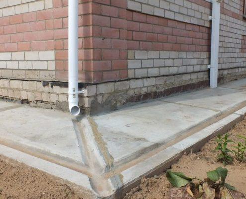 Утепление бетонной отмостки