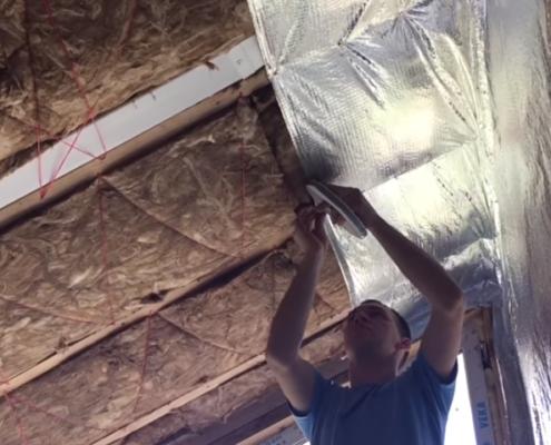 Утепление крыши каркасной бани